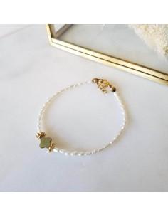 Bracelet Anae - nacre et croix - Ginandger - Comptoir Doré