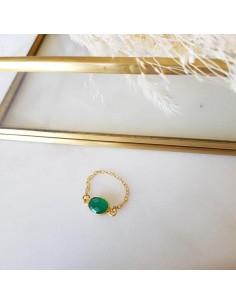 Bague Elisa Verte (Onyx vert)