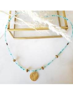 Collier Astrée Amazonite