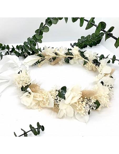 Couronne de fleurs stabilisées Calista - BFlower - Comptoir Doré