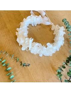 Couronne de fleurs Hortensia stabilisé - BFlower - Comptoir Doré