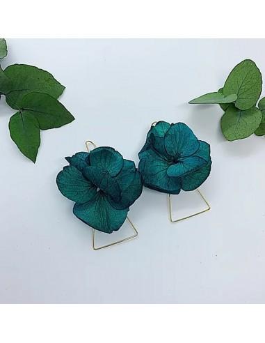 Boucles d'oreilles Eos - fleurs stabilisées - BFlower - Comptoir Doré