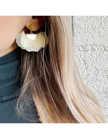 Boucles d'oreilles Nuwa - fleurs stabilisées - BFlower - Comptoir Doré