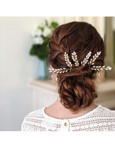 Epingles Olympia (par 2) - épingles à cheveux mariée - Comptoir Doré