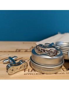 Boutons de manchette Chaine de vélo - Comptoir Doré