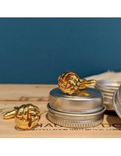 Boutons de manchette Passementerie métal doré - Comptoir Doré