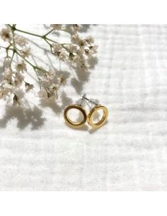 Puces d'oreilles dorées Nusa - Séraphine Bijoux - Comptoir Doré