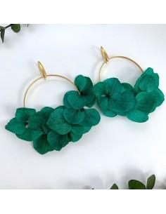 Boucles d'oreilles Shou - fleurs stabilisées - BFlower - Comptoir Doré