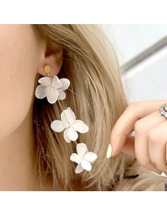 Boucles d'oreilles pendantes Lenna - BFlower - Comptoir Doré