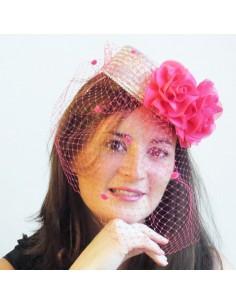 Bibi Lola - Location Bibi Mariage Argenté et Rose Fushia - L'Ancolie Chapeaux - Comptoir Doré