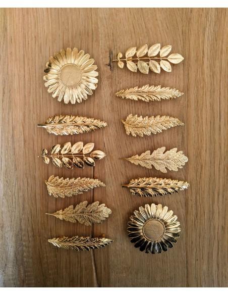 Barrettes dorées made in France - Comptoir Doré
