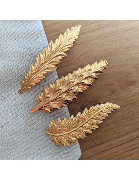 Barrettes dorés made in France - Comptoir Doré