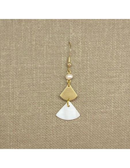 Boucles d'oreilles Occi - Collection Mariage - MdeB Créations - Comptoir Doré